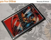 ON SALE Metal Business Card Holder made with Upcycled Wolverine Comic Book Artwork