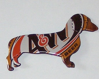 DACHSHUND DOG Magnet - A&W Root Beer Soda Can (Replica)