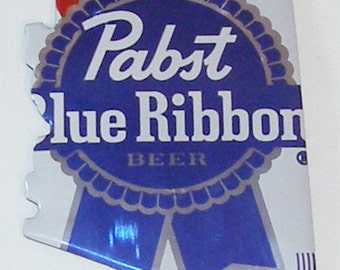 ARIZONA (AZ) State Shaped Magnet - Pabst Blue Ribbon Beer Can