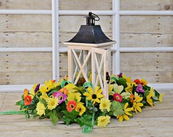 Spring Lantern Centerpiece , Home Decor , Floral Arrangements , Spring Arrangements , Table Centerpiece , Home and Living , Spring , Summer