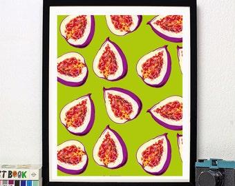 Happy Figs - Art Print