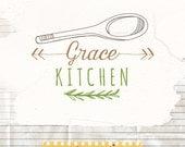 Food blog logo design -  watermark logo - Blog Logo - Premade logo design