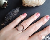 Antique Mystic and Witchy Circle Copper Ring