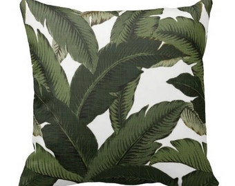 Outdoor Pillows,Throw Pillow,Green Patio Pillows,  Outside Pillows, Tropical Pillow Covers, Pool Pillows, Palm Pillows
