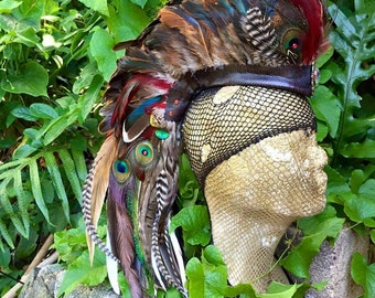 Primaria  - Customizable Feather Mohawk / Headdress