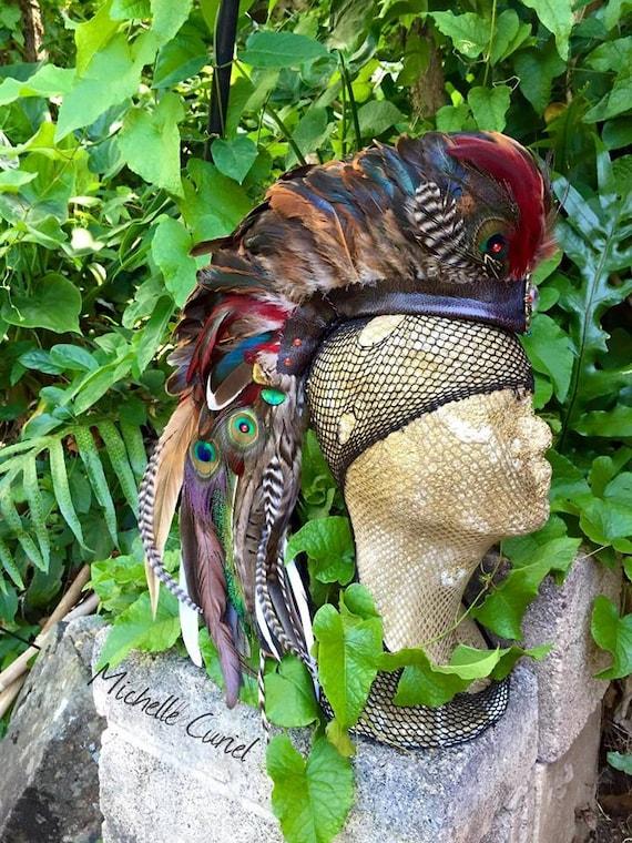 Primaria  - Customizable Feather Mohawk / Headdress