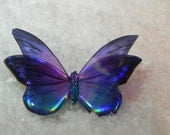 Beautiful Purple and Blue resin butterfly
