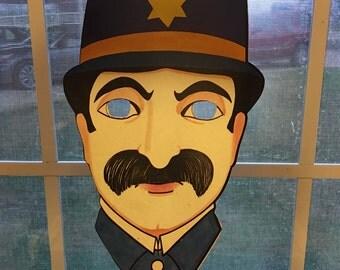 Vintage Police Officer's cardboard mask