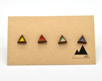 Colour Block Triangle - Wood Studs- Mix & Match