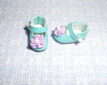 Turquoise Nerida 23mm Shoes fits Robert Tonner Sad Sally Dolls