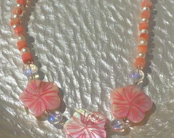 Summer Flower Shell Necklace