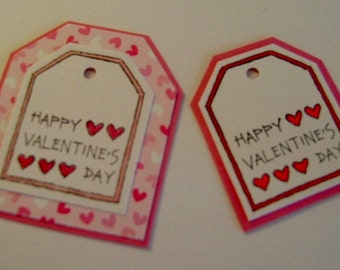 Set of 12 Valentine Gift Tags