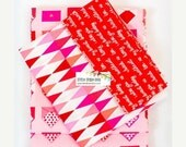 VALENTINE SALE Valentines Envelopes on Pink Pillow Case Kit