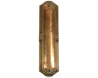 Copper scalloped push plate