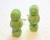 Jelly Baby Cufflinks. Polymer Clay.