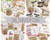 Seasonal Gift Tag Subscription - Product Tags - Packaging Supplies - Gift Wrap - Happy Mail Packaging