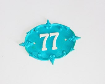 77 Door number use for home decor, assemblage, art , photography prop