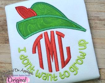 Robin Hood - I don't want to grow up shirt - Birthday shirt - Disney Vacation Shirt - Themed birthday party shirt - Custom Monogram shirt