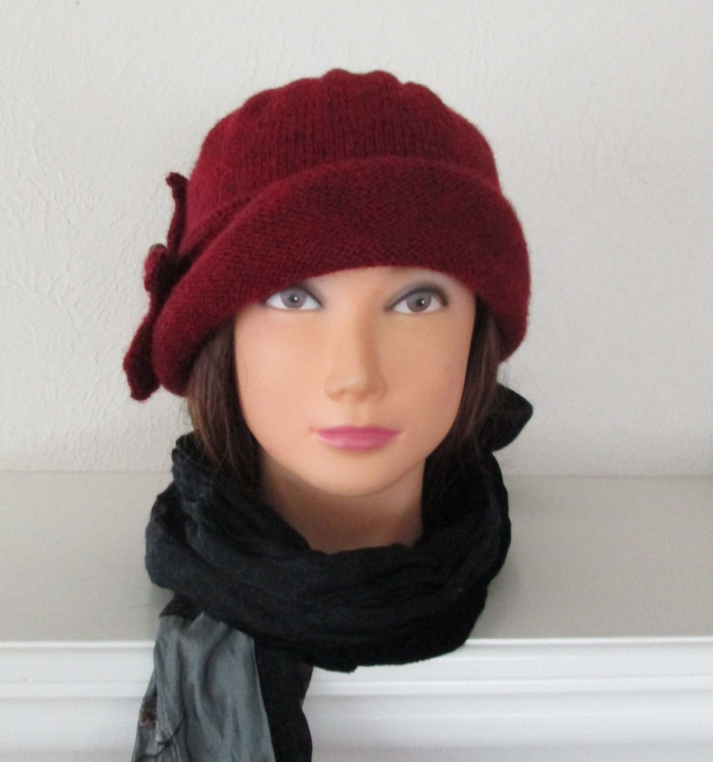 Downton Abbey Knitting Patterns : PDF Knitting Pattern The Lady Mary Hat Downton Abbey 1920s