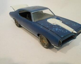 Scale Model, Pontiac Car, Rusted Wreck, Handmade,Pontiac GTO