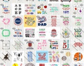 Big Bundle of 75+ Designs For Limited Time with SVG, DXF, PNG Commercial & Personal Use