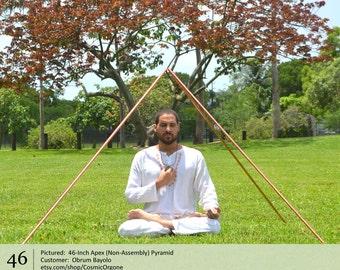 Meditation Pyramid for Sale - Giza Copper Pyramids for Meditation - 46-Inch Apex