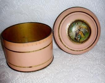 Vintage Art Deco Powder Tin by Jean Lowe New York Paris Only 8 USD