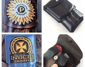 Three custom cigar cases with Cutter&Lighter Pouch