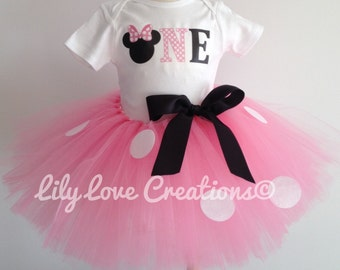 Minnie Mouse Birthday Outfit, Minnie Mouse First Birthday Outfit, Minnie Birthday Tutu, Minnie Mouse Birthday Theme