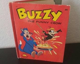 Vintage Wonder Book - Buzzy the Funny Crow - 1963