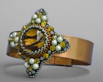 Hildegard Bracelet Kit- bead embroidery kit-great for beginners