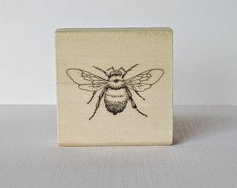 BumbleBee Wooden Mounted Rubber Stamping Block DIY cards, scrapbooking, tags, Greeting Cards, and Scrapbooking