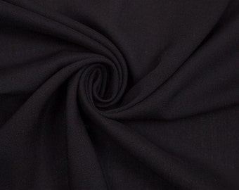 Rayon Challis Fabric by the Yard - Black (201)