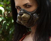 "Sexy Egyptian ""Bast"" Cat Gas Mask  cosplay diesel punk steampunk fetish larp halloween on Sale Now  25% off!!"