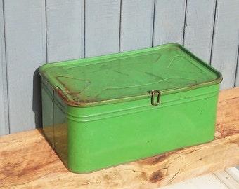 Vintage Bread Box - Green Bread Box