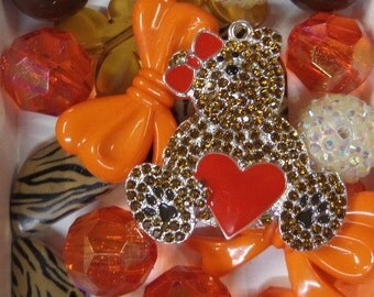 Bead and Rhinestone Pendant Collection, A5