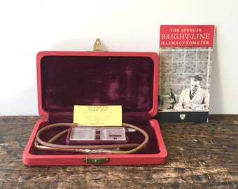Vintage 1947 Spencer Bright Line Haemacytometer Kit with Box