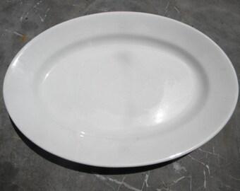 nice clean shape antique JOHNSON BROS  white IRONSTONE serving platter