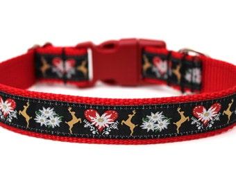 "Christmas Dog Collar 1"" Winter Dog Collar SIZE LARGE Ready to Ship Dog Collar"