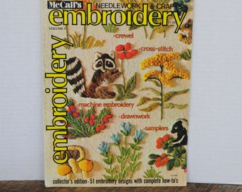 1975 Vintage McCalls Needlework and Craft Embroidery Magazine Volume 3