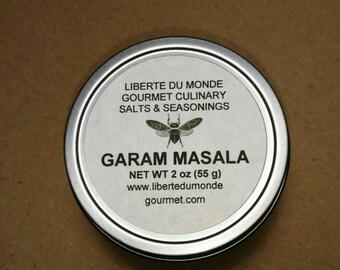 Garam Masala Spice Blend in Food Safe 4 oz Resealable Tin