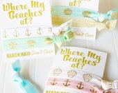 Where My Beaches At, Party Favor, Mermaid theme party, 21st birthday, Bachelorette Party, Beach Party, Mermaid Gang, Mermaid Squad, shell