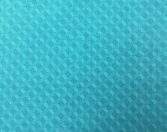 Teal Cross Weave - Fat Quarter