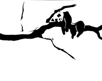 Napping Panda Print - Gift - Art - New Year