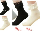 women Mesh Lace Ruffle Frilly Ankle Socks price for 1 pair