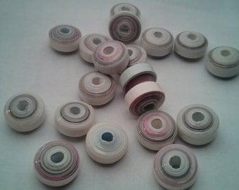 White Paper Beads