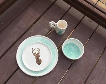4 piece Dinnerware set Dorsey Wedding registry