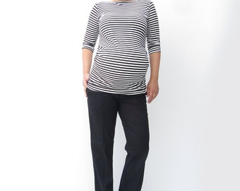 Maternity Office  Black Pants, Maternity Trousers, Expecting a Baby, Newborn,Prenatal Clothing, Women Clothing