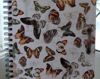 8 x 10 Unlined Butterfly Journal
