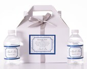Wedding Guest Box - 30 Wedding Welcome Boxes with 60 Matching Water Labels - Hotel Wedding Welcome Box - Wedding Favor Boxes